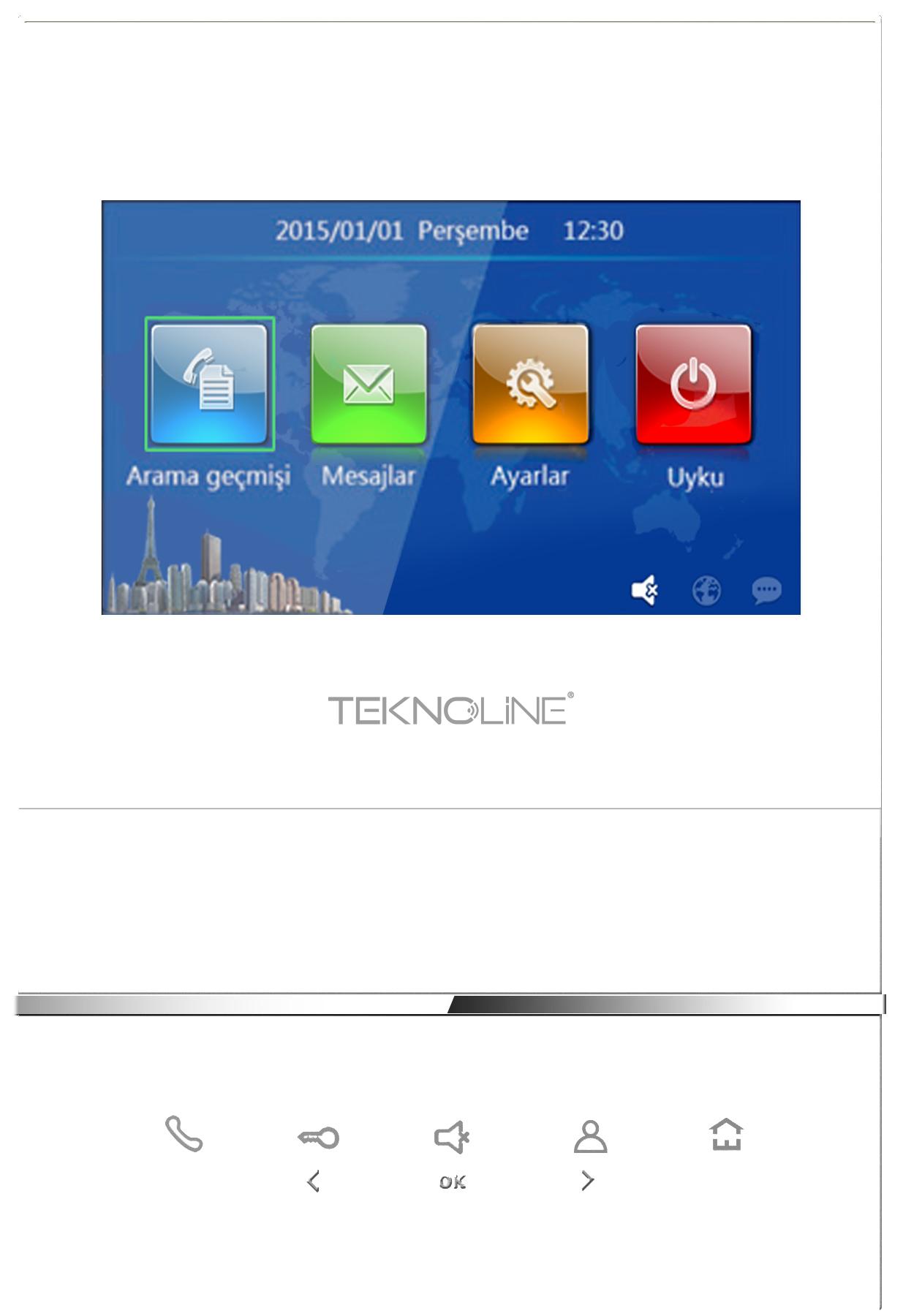 """T4-IS02-W IP 4.3"""" Daire Monitörü"""