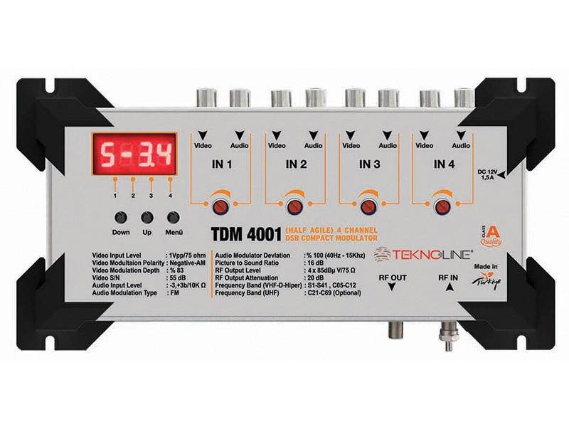 [TDM 4001] TDM 4001 DSB Modülatör ÇİFT BANTLI TV MODULATÖRÜ