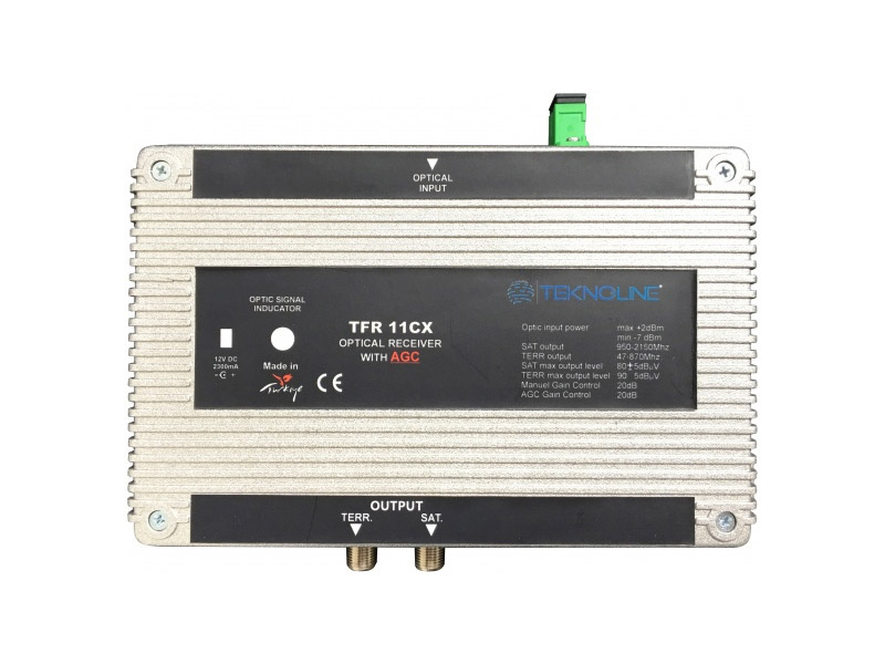[TFR 11C] Fiber Optik Receiver 1 RF + 1 IF