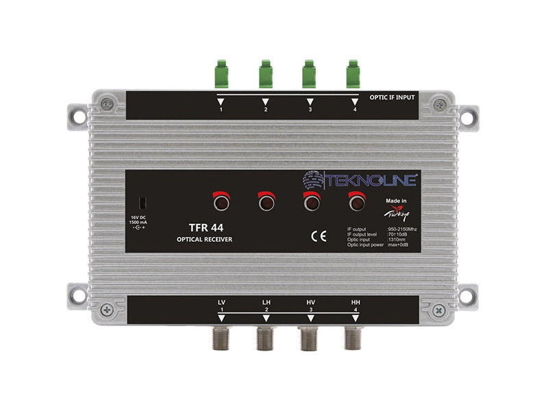 [TFR 44] Fiber Optik Receiver 1 SAT (4 IF)
