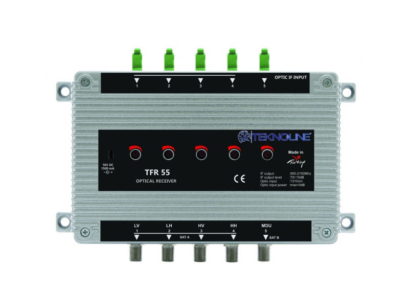[TFR 55] Fiber Optik Receiver 1 SAT + 1 MDU (5 IF)